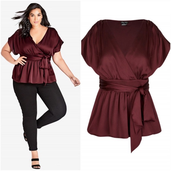 City Chic Tops - City Chic Plus Size Tangled  Top